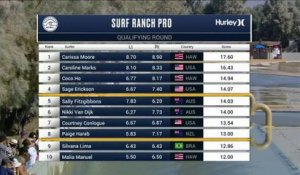 Adrénaline - Surf : Carissa Moore with a 6.83 Wave from Surf Ranch Pro, Women's Championship Tour - Qualifying Round