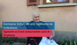 Germaine, 89 ans, militante anti-GCO