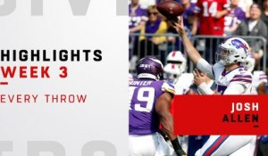 Every Josh Allen throw vs. Vikings | Week 3