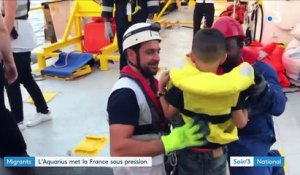 "Migrants : ""l'Aquarius"" met la France sous pression"