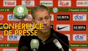 Conférence de presse AS Nancy Lorraine - Red Star  FC (1-0) : Alain PERRIN (ASNL) - Faruk HADZIBEGIC (RED) - 2018/2019