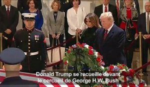Donald Trump rend hommage à George H. W. Bush