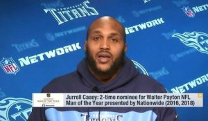 Jurrell Casey discusses being a 2-time nominee for the Walter Payton Man of the Year award