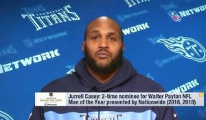 Jurrell Casey as nominee for the Walter Payton Man of the Year award