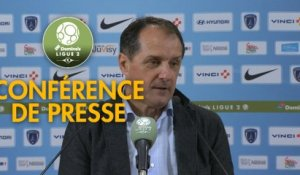 Conférence de presse Paris FC - Red Star  FC (1-1) : Mecha BAZDAREVIC (PFC) - Faruk HADZIBEGIC (RED) - 2018/2019