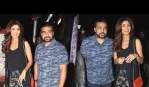 Shilpa Shetty with hubby Raj Kundra in Bandra