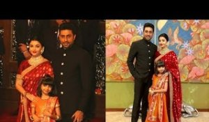 Aishwarya Rai & Abhishek Bachchan with Daughter Aaradhya At Isha Ambani & Anand Piramal ROYALWEDDING