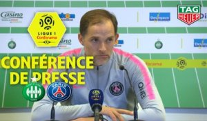 Conférence de presse AS Saint-Etienne - Paris Saint-Germain (0-1) : Jean-Louis GASSET (ASSE) - Thomas TUCHEL (PARIS) / 2018-19
