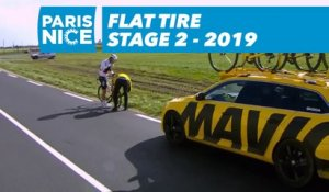 Flat Tire - Étape 2 / Stage 2 - Paris-Nice 2019