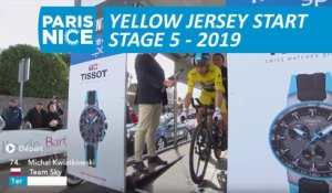 Départ Maillot Jaune / Yellow Jersey start - Étape 5 / Stage 5 - Paris-Nice 2019