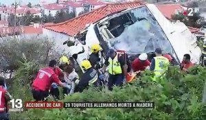 Portugal : 29 morts dans un accident de car de touristes