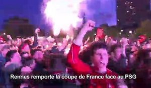 Football: la fête des supporters de Rennes