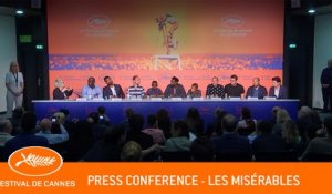 LES MISERABLES - Press conference - Cannes 2019 - EV