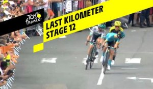 Last kilometer / Flamme rouge - Étape 12 / Stage 12 - Tour de France 2019