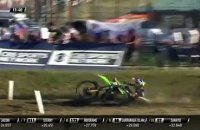Sterry crashes - MX2 Race 2 - MXGP of Italy - Imola 2019