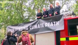 Action choc d'Extinction Rebellion au nom du climat