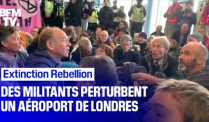 Extinction Rebellion: des militants perturbent un aéroport de Londres