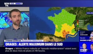 Orages: alerte maximum dans le sud (1/2) - 22/10