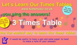 Kidzone - Do You Know The Three Times Table?