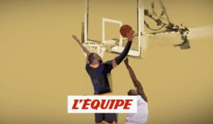 Le contre sur contre-attaque par LeBron James - Basket - NBA