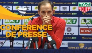 Conférence de presse Le Mans FC - Paris Saint-Germain (1-4) : Richard DEZIRE (LEMANS) - Thomas TUCHEL (PARIS) - 2019/2020