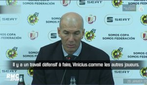Real Madrid : Zidane salue le travail de Vinicius