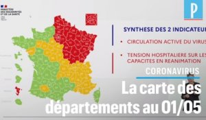 Déconfinement : la carte des départements «rouge», «orange» ou «vert» du 1er mai