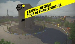 Tour de France Virtuel 2020 - Etape 6 - Résumé