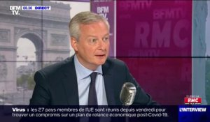 "Bruno Le Maire justifie le port du masque obligatoire en raison ""d'un relâchement de nos comportements"""