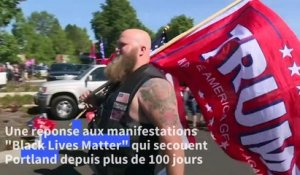 Dans l'Oregon, des militants pro-Trump se mobilisent en force