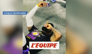 LeBron James a bien fêté le titre des Lakers - Basket - NBA - WTF
