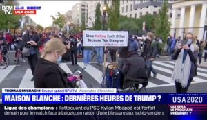 Les supporters de Trump et Biden face à face dans la rue à Washington