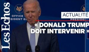 Joe Biden qualifie d'« insurrection » les violences au Capitole