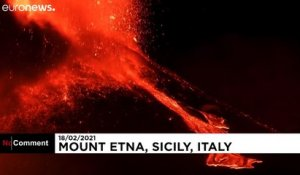 Spectaculaire éruption de l'Etna