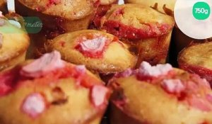 Muffins aux pralines roses rapides