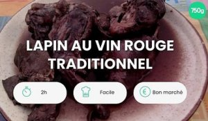 Lapin au vin rouge traditionnel