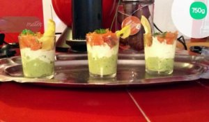 Verrine avocat boursin saumon