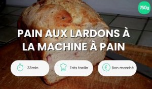 Pain aux lardons à la machine à pain