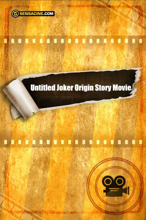 Untitled Joker Origin Story Movie : Affiche