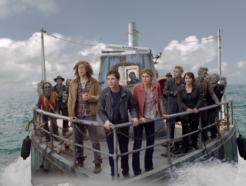 Percy Jackson : La mer des monstres : Photo Alexandra Daddario, Douglas Smith, Logan Lerman