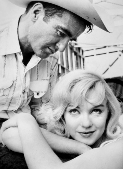 Les Désaxés : Photo Marilyn Monroe, Montgomery Clift