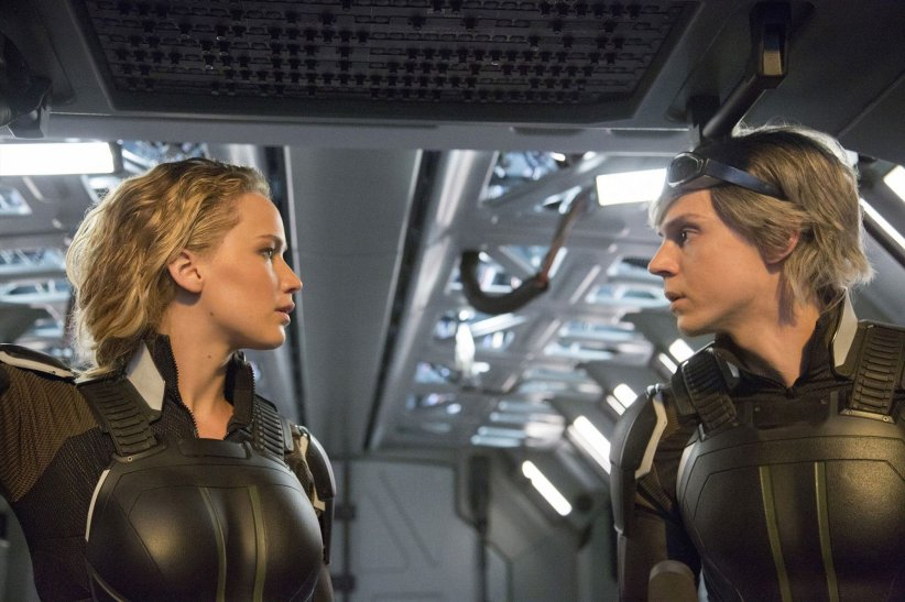 X-Men: Apocalypse : Photo Evan Peters, Jennifer Lawrence