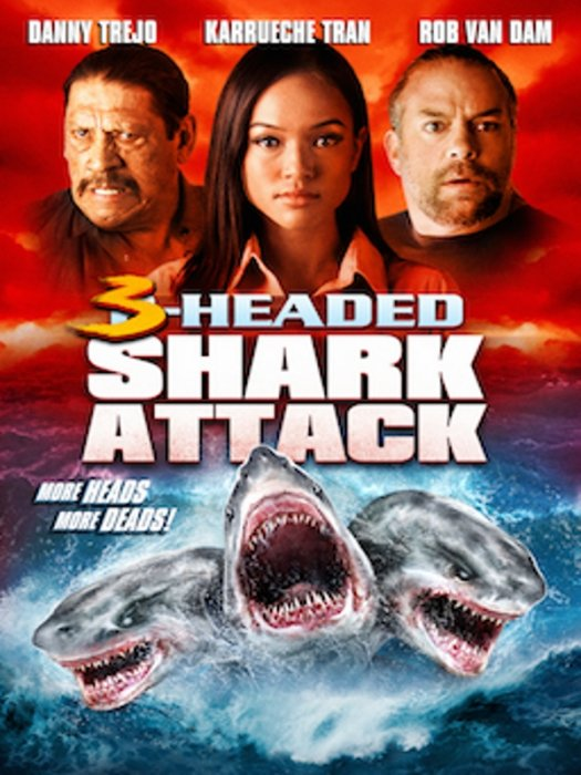 3-Headed Shark Attack : Affiche