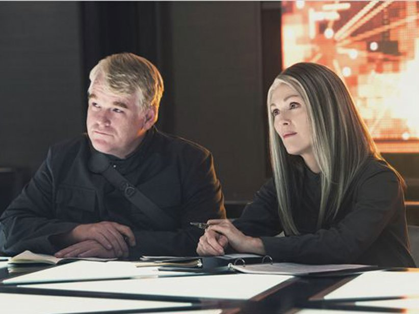 Hunger Games - La Révolte : Partie 1 : Photo Julianne Moore, Philip Seymour Hoffman