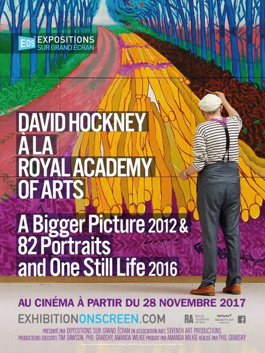 David Hockney à la Royal Academy of Arts : A Bigger Picture 2012 & 82 Portraits and One Still Life 2016 : Affiche