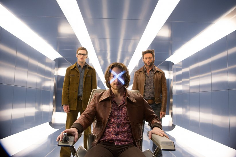 X-Men: Days of Future Past : Photo Hugh Jackman, James McAvoy, Nicholas Hoult