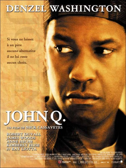 John Q : Affiche Denzel Washington
