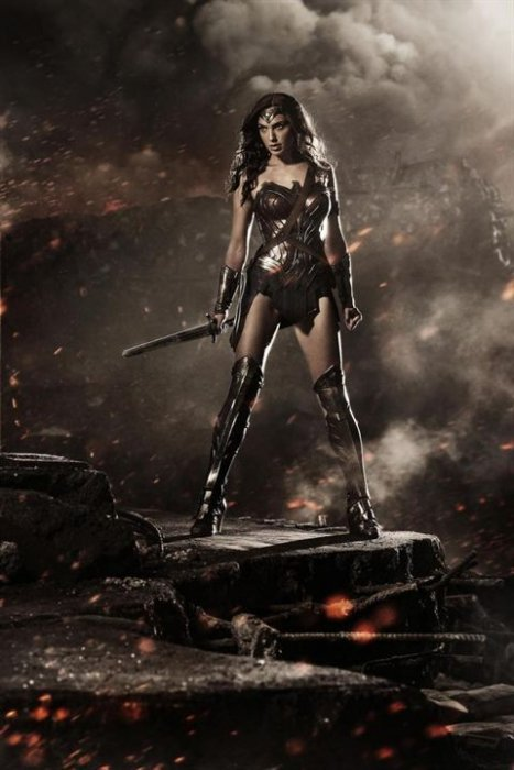 "Gal Gadot, alias Wonder Woman, dans ""Batman v Superman : L'Aube de la Justice"" (2016)"