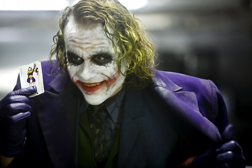 "Le Joker dans ""The Dark Knight, Le Chevalier Noir"""