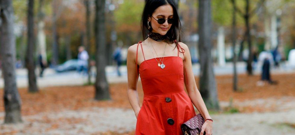 3a48958d301 Comment porter la robe mi-longue printanière